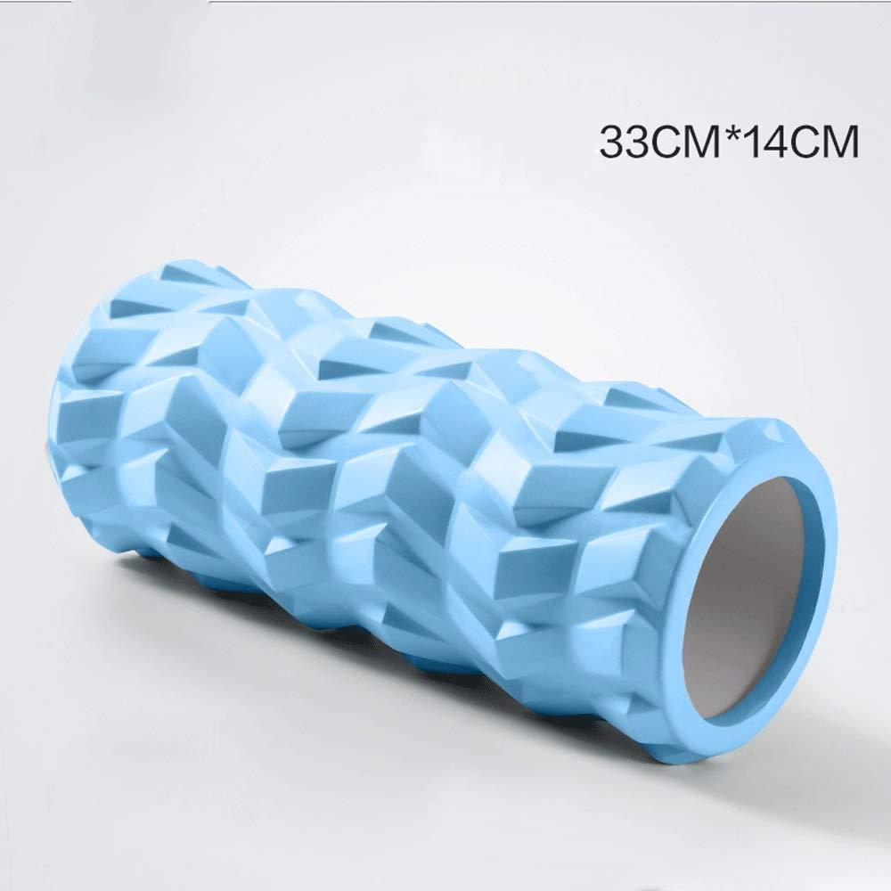 Color: Negro, Azul, Rosa WMMCM Los Ejes de Espuma Mantienen la relajaci/ón Muscular Mace Roller Roller Stovepipe Yoga Roller Foam Shaft Sports Fitness