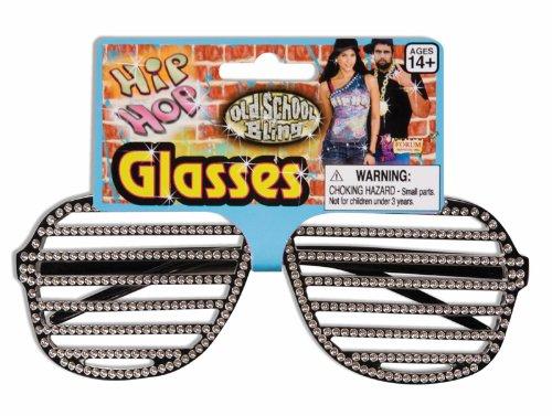Hip Hop Slot Glasses Rhinestone (Kanye Style)