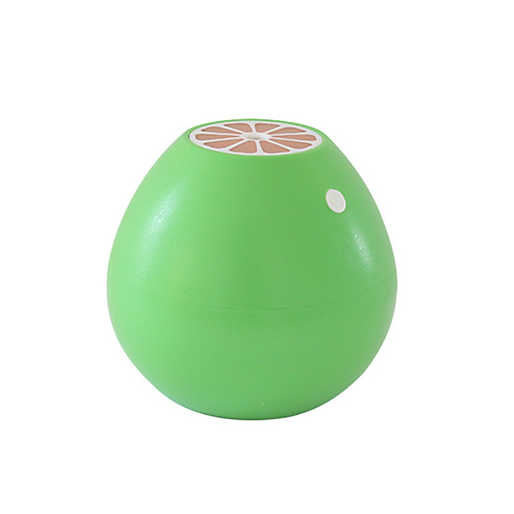 VORCOOL Ultrasonic Mist Humidifier Mini USB Air Humidifier Grapefruit Shape with LED Soft Light for Home Office Yoga Spa (Green)