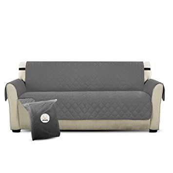 PETCUTE Lujo Cubre para Silla Fundas de Sofa Protector de sofá o sillón, Dos o Tres plazas Gris: Amazon.es: Hogar