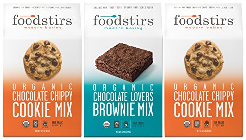 Foodstirs Baking Mix Variety 2 Chocolate Chippy Cookie Mix and 1 Chocolate Lovers Brownie Mix