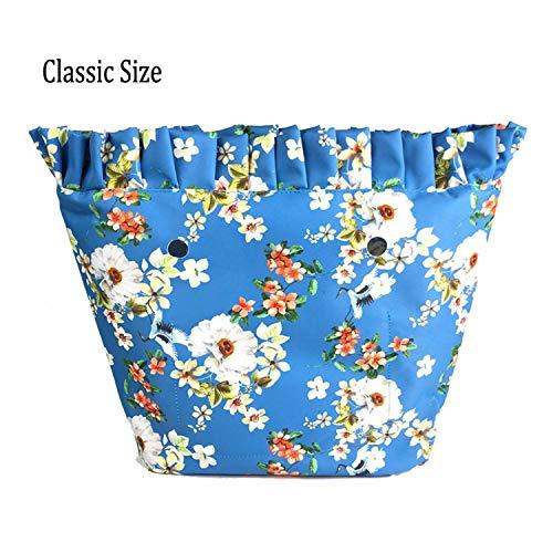 Classic 7 Impermeable O Constructs Revestimiento Bolsa Impresión Colorida Floral Cremallera Borde Forro De Mini Con Lienzo Para Bolsillo xHxv4fTw
