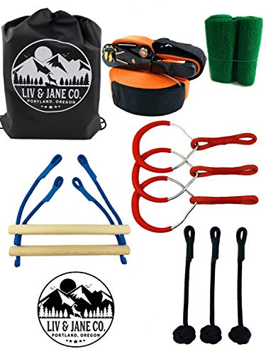 Buy Liv & Jane Co. Ninja Line Obstacle Course - 48' Set for Backyard Ninja Warrior Fun and Fitness f...