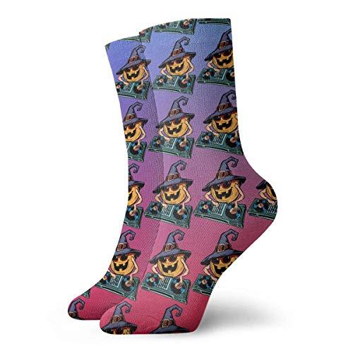 ZOZGETU Short Socks Crew Sock Halloween Pumpkin Dj E Printed Sport Athletic Socks 30cm Long -
