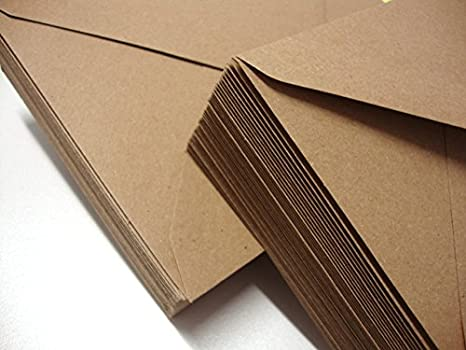 Cranberry Card Company - Buste da lettere in carta kraft riciclata, 120 g/m², C5/A5 marrone