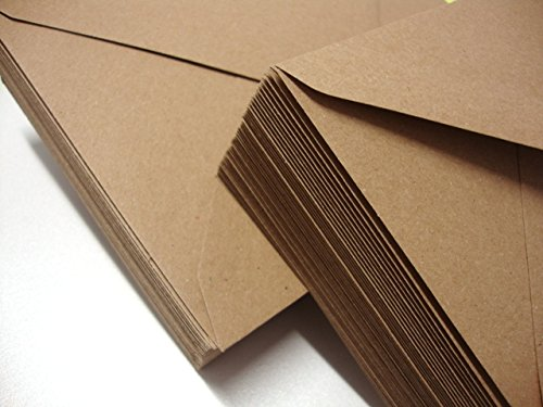 C5 Premium Kraft Brown Envelopes Pack of 50 by Cranberry