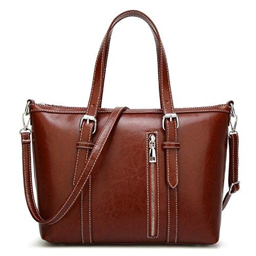 Women's Purses and Handbags Stylish Ladies Designer Satchel Top-handle Tote Shoulder Bags,QUEENTOO(A-Brown) by QUEENTOO (Image #6)