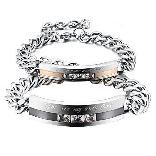 KasLin Stainless Silver Zirconia Bracelet