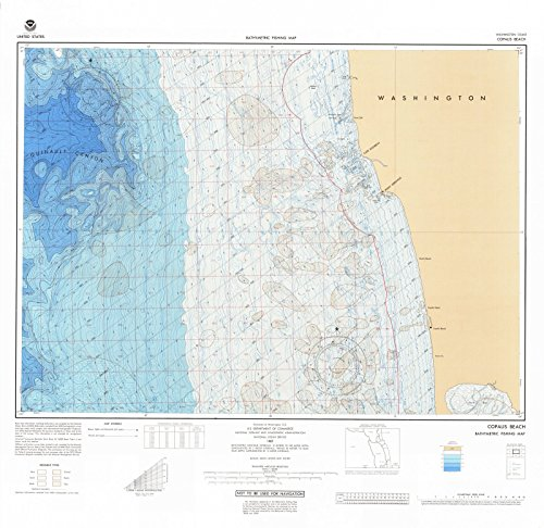 1987 Bathymetric Map--Fishing | Historical Copalis Beach, WA |