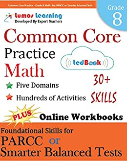 Amazon common core practice grade 8 math workbooks to common core practice grade 8 math workbooks to prepare for the parcc or smarter fandeluxe Images