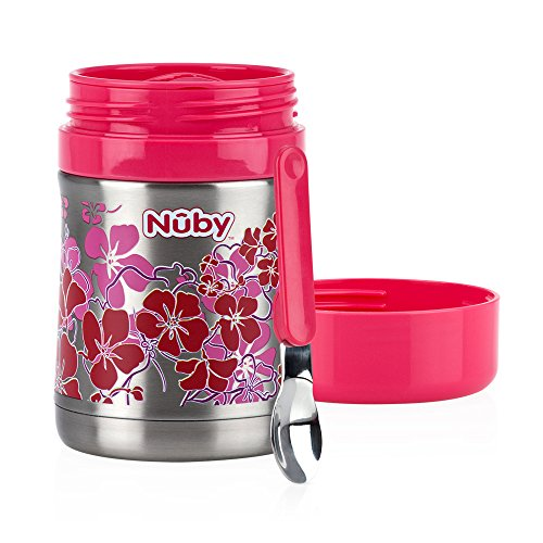 Nuby Stainless Steel Thermos, Pink