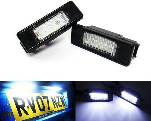 2 X Led Kennzeichenbeleuchtung Weiß Canbus Für C3 C4 C5 C6 Ds3 Ds5 106 307 308 406 508 Expert Rcz Auto