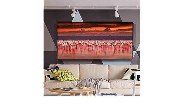 NIMCG Decoración del hogar Lienzo Cartel Pintura Flamingo ...