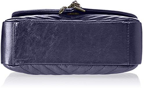 Chicca Borse 1626, Borsa a Mano Donna, 24x15x10 cm (W x H x L) Blu (Blue)