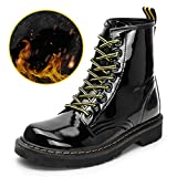 Womens Martin Boots Casual Round Toe Lace Up Autumn Winter New Thick-Sole Ankle Boots