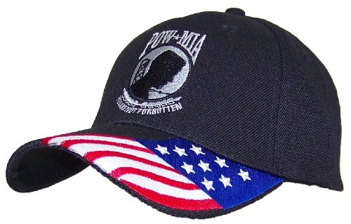 (Y&W POW/MIA You Are Not Forgotten With Flag On Bill Adjustable Hat (One Size))