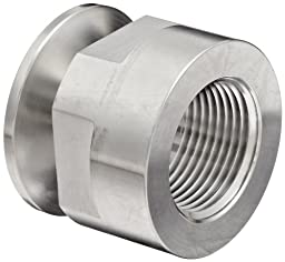 Dixon 22MP-G100 Stainless Steel 304 Sanitary Fitting, Clamp Adapter, 1\