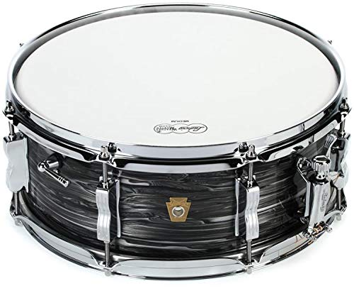 Ludwig 5.5x14 Legacy Maple Jazz Fest Snare Drum Vintage Black Oyster