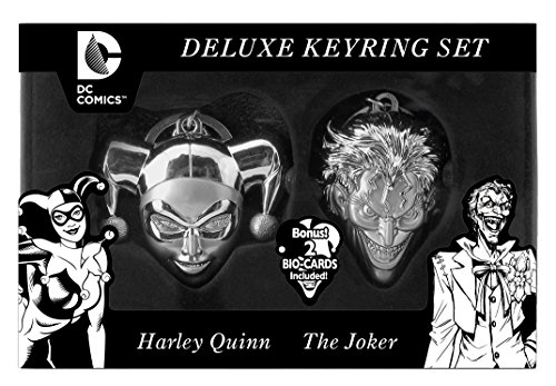 DC Limited Edition Harley Quinn and Joker Face Key Ring Set (2-Piece)