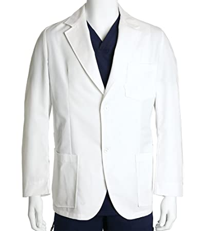 Barco Mens Lab Coat, Long 31 Inch, White 42