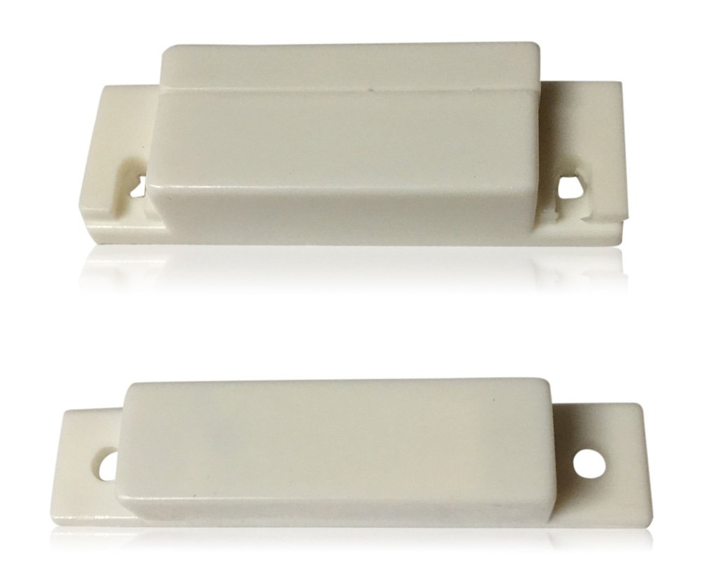 """5 pcs White Door Contacts Surface Mount NC Security Alarm Door Window Sensors.These ¾"""" Door Contact Position switches (DCS) Work with All Access Control and Burglar Alarm Systems"""