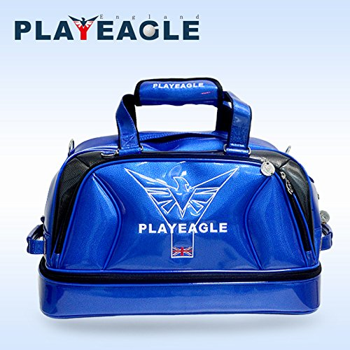 PLAYEAGLE New Arrival Double-layer Men's Golf Duffel Bag PU Smooth Golf Bag for Travel Women Waterproof Boston Bag with Shoe Pocket by PLAYEAGLE (Image #8)