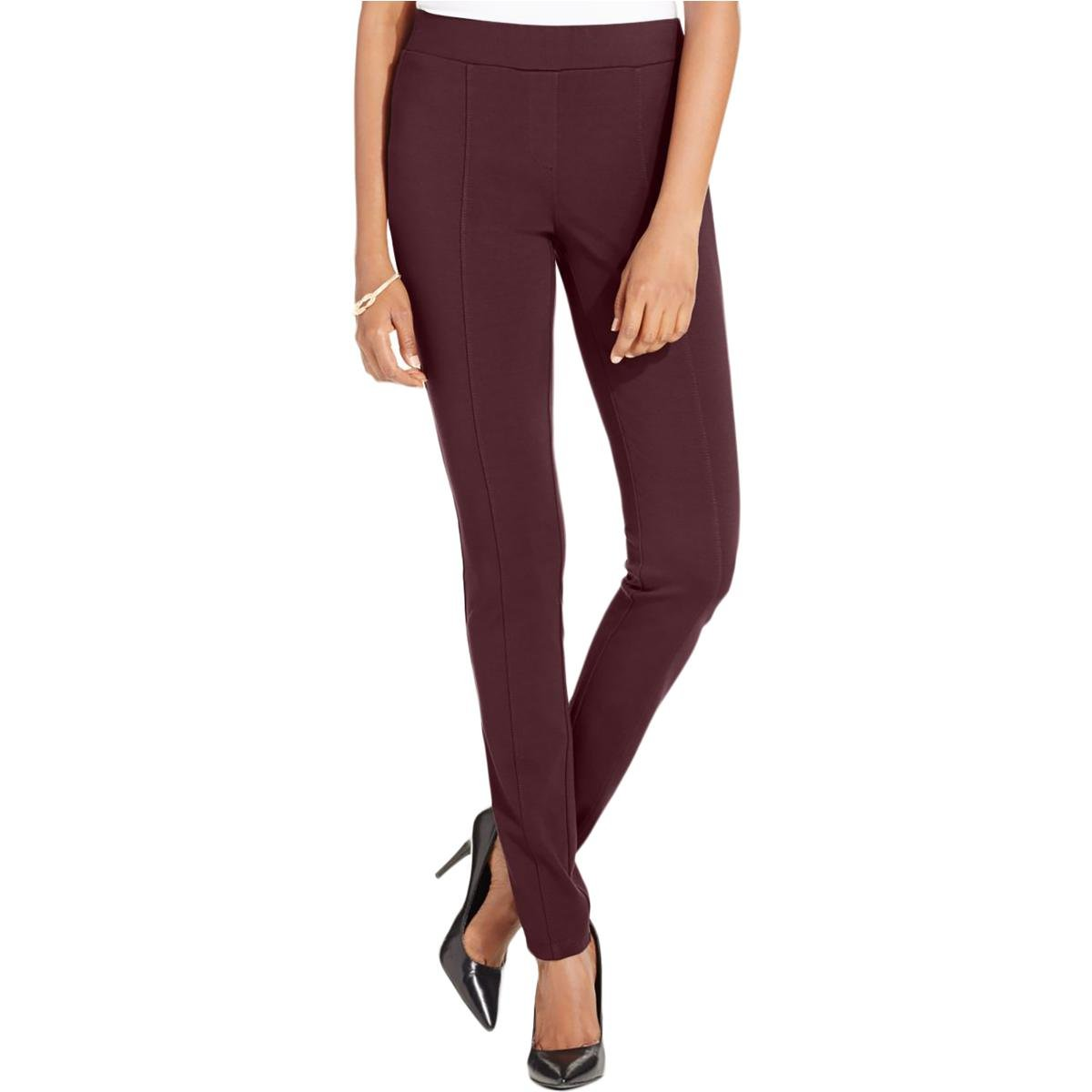 Style & Co... Petite Stretch Ponte Leggings in Rich Truffle Brown (Petite Small)