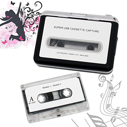 Best and most practical retro cassette player - Portable tape player Capture MP3 music music via USB - Compatible with laptop and personal computer - Convert Walkman cassette to iPod format by Hqdz (Image #3)