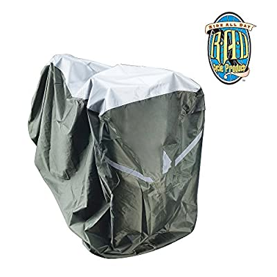 RAD Cycle Waterproof and Weatherproof Extra Large Bike Cover XL for up to 2 Beach Cruisers, Mountain Bikes, Electric Bicyckes, Bikes with Accessories like Baskets, Racks or Child Seats