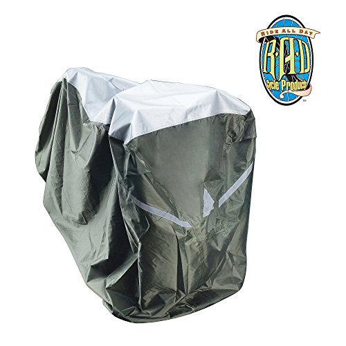 RAD Cycle Waterproof and Weatherproof Extra Large Bike Cover XL for Beach Cruisers, Mountain Bikes, Electric (Trike Canvas)