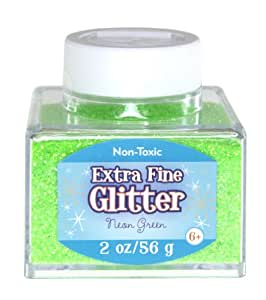 Sulyn 2oz. Glitter Stacker Jar- Neon Green