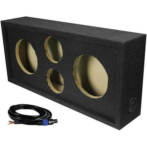 "Q Power Car Audio Subwoofer Enclosure Box Chuchero for 6.5"" Mids and 3"" Tweeters"