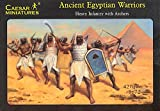 Ancient Egyptian Infantry Warriors Archers 42 Unpainted Figures - 1/72 Scale Plastic Toy Soldiers by Caesar Miniatures Airfix Revell Type