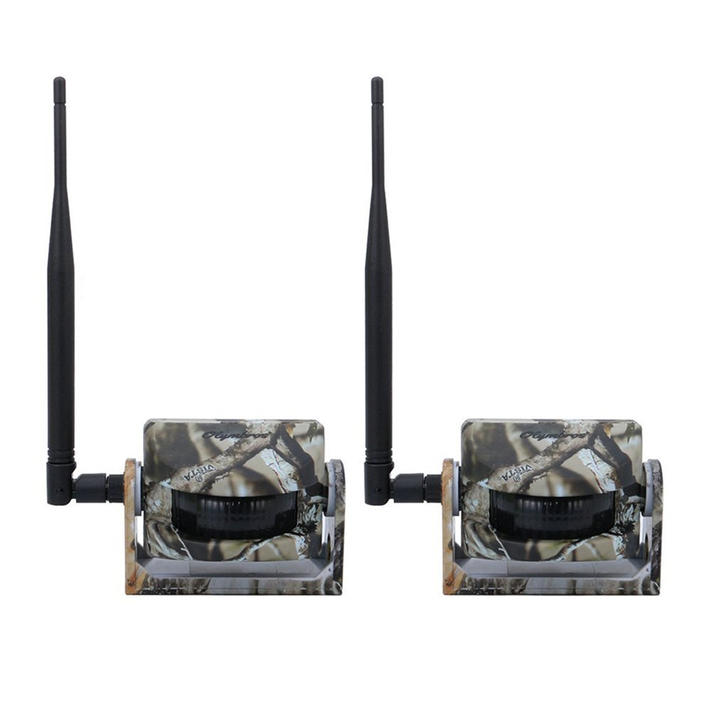 Olymbros Cámara de Caza 16MP 1080P Trail Cámara con Visión Nocturna con Hasta 82ft Impermeable IP66 Invisible IR LEDs Sensor de Movimiento para Fauna Seguridad Hogar Mascota Animal T3