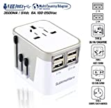 International Power Adapter 4 Port USB Wall Charger 3500mA USB Charge Ports Type