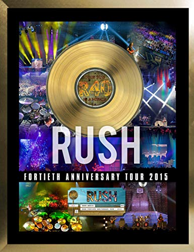 Rush Framed 40th Anniversary Tour with Gold 45 ()