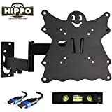 """HIPPO TV Wall Mount Bracket for 15"""" 17"""" 19"""" 20"""" 22"""" 23"""" 24"""" 26"""" 27"""" 28"""" LED LCD OLED Plasma Screen up to 55 lbs VESA 200x200 5ft HDMI Cable"""