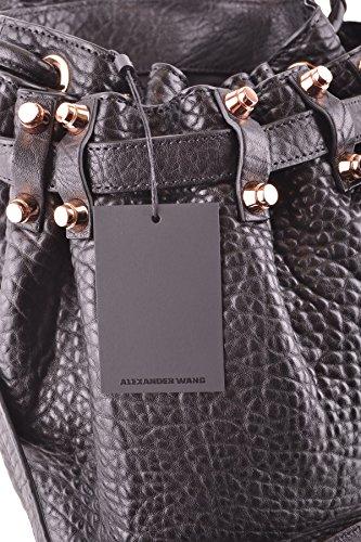 Alexander Wang Mujer MCBI335035O Negro Cuero Bolso De Hombro