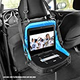 "Portable DVD Player Headrest Car Mount Case by USA GEAR - Storage Bag Fits DBPOWER 9.5 Inch, Sylvania SDVD10408, Ematic EPD909, Azend BDP-M1061, Sony BDPSX910, more 7-10"" Blu-ray/DVD Players"
