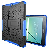 Tab S2 9.7 Case,Galaxy Tab S2 9.7 Case, DAMONDY Shockproof Hybrid Tough Rugged Dual Layer Protective Case Cover with Kickstand for Samsung Galaxy Tab S2 9.7 inch -blue