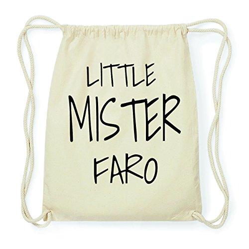 JOllify FARO Hipster Turnbeutel Tasche Rucksack aus Baumwolle - Farbe: natur Design: Little Mister