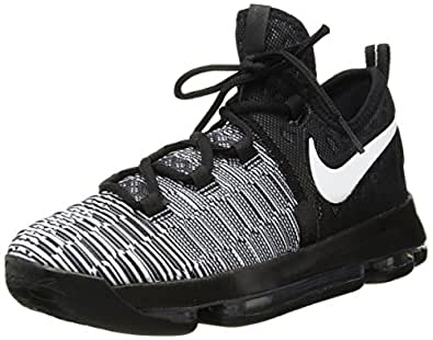 d33c7c35036 Image Unavailable. Image not available for. Color  NIKE Zoom KD9(GS) Big  Kid s Basketball Shoes Black White ...