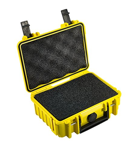 B&W International 500/Y/SI 500 Outdoor Case with SI Foam Insert Durable Type with SI Foam, Yellow