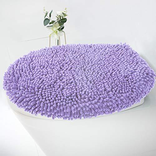 MAYSHINE Seat Cloud Bath Washable Shaggy Microfiber Standard Toilet Lid Covers for Bathroom -