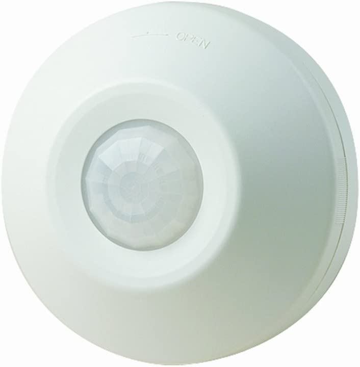 Leviton ODC0S-I1W Self-Contained Ceiling-Mount Occupancy Sensor and Switching Relay, 1000-Watt, 120-Volt,White