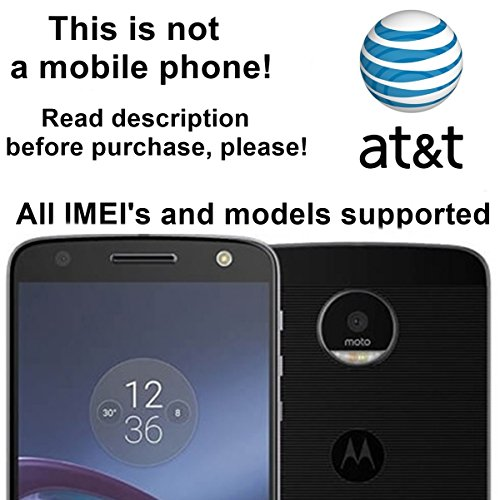 AT&T USA Unlocking Service for Motorola Moto G4, G4 Play, Atrix 2, Moto E, BRAVO, RAZR V3, Backflip, FLIPSIDE and Other Models Which Ask For an Unlock Code - Make Your Device More Useful Than Before - Choose Any Carrier at Your Own at Any Time You Need - No Re-lock Lifetime Guarantee
