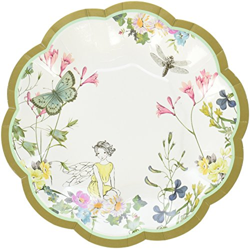 Talking Tables Truly Fairy Paper Plate with Fairy Design for a Tea Party or Birthday, Multicolor (12 (Party Supplies Uk)