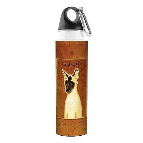 Golden Artful Traveler Stainless Steel Water Bottle Siamese Cat Tree Free 18-Ounce Tree-Free Greetings VB48003 John W