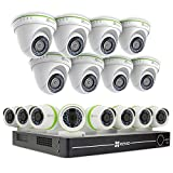 EZVIZ FULL HD 1080p Outdoor Surveillance System, 16 Weatherproof HD Security Cameras, 16 Channel 3TB DVR Storage, 100ft Night Vision, Customizable Motion Detection