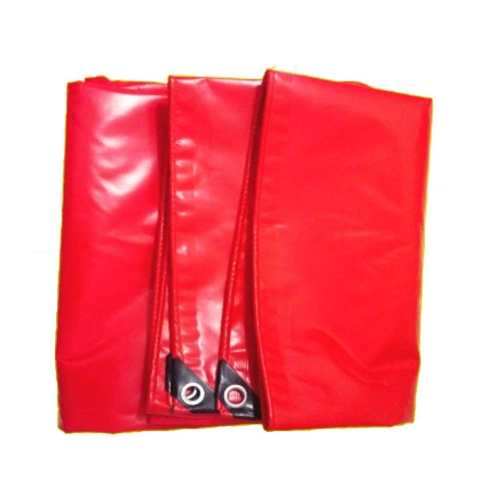 Yetta Plane 0.42mm rot PVC wasserdicht Tuch Sonnenschutz LKW Outdoor Schatten Tuch 550g   Quadratmeter (Größe   6  6m)